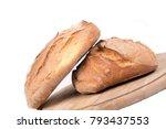 freshly baked loaf of bread on...   Shutterstock . vector #793437553