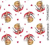 A Seamless Pattern With Little...