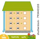 counting game for preschool... | Shutterstock .eps vector #793443103