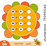 counting game for preschool... | Shutterstock .eps vector #793443163