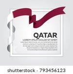 qatar flag background | Shutterstock .eps vector #793456123