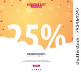valentines day sale background. ... | Shutterstock .eps vector #793464247