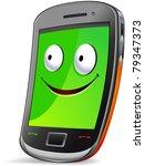 smart phone character.  the... | Shutterstock .eps vector #79347373