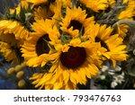 Sunflower Bouquet Background