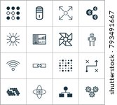 learning icons set with... | Shutterstock .eps vector #793491667