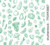 seamless pattern with...   Shutterstock .eps vector #793493887