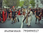 bucharest  romania   april 15 ... | Shutterstock . vector #793494517