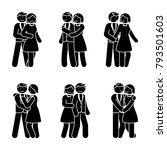 stick figure happy couple... | Shutterstock .eps vector #793501603