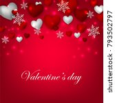 happy valentines day background ... | Shutterstock .eps vector #793502797