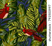 tropical seamless pattern with... | Shutterstock .eps vector #793503997