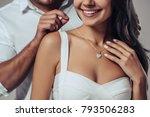 beautiful romantic couple in...   Shutterstock . vector #793506283