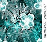 watercolor seamless pattern...   Shutterstock . vector #793507807