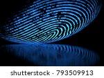 3d illustration. 3d holographic ...   Shutterstock . vector #793509913