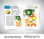 business magazine layout | Shutterstock .eps vector #793513273