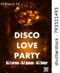 party poster vector background... | Shutterstock .eps vector #793521493