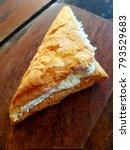 triangular bread stuffed with... | Shutterstock . vector #793529683