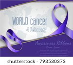4 february world cancer... | Shutterstock .eps vector #793530373