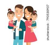 flat family with children... | Shutterstock .eps vector #793530937