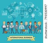 linear flat international... | Shutterstock .eps vector #793530997