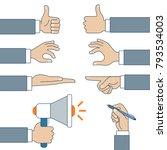 flat linear set of male... | Shutterstock .eps vector #793534003