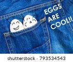 Funny Eggs Celebrate And Smile...