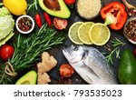 food background. fresh  raw...   Shutterstock . vector #793535023