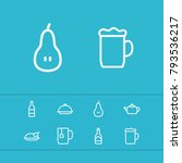 meal icons set with soda  wine... | Shutterstock .eps vector #793536217
