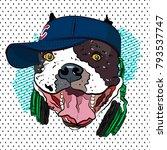 youth print. bulldog in...   Shutterstock .eps vector #793537747