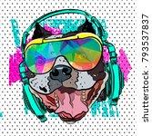pop art print. steep bulldog...   Shutterstock .eps vector #793537837