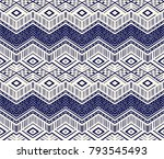 ikat geometric folklore... | Shutterstock .eps vector #793545493