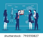 business people with analysis... | Shutterstock .eps vector #793550827