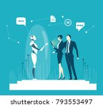 rpa robotic progress... | Shutterstock .eps vector #793553497