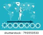 rpa robotic progress... | Shutterstock .eps vector #793553533