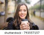 coffee to go  | Shutterstock . vector #793557157