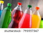 plastic bottles of assorted... | Shutterstock . vector #793557367