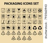 set of packaging icons  packing ... | Shutterstock .eps vector #793560943