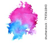 colorful abstract watercolor... | Shutterstock .eps vector #793561843