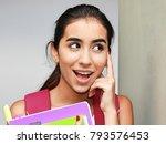 female student deciding | Shutterstock . vector #793576453