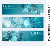 scientific set of modern vector ...   Shutterstock .eps vector #793588867