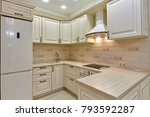 kitchen with appliances and a... | Shutterstock . vector #793592287
