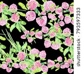 flowers  field flowers. a set... | Shutterstock . vector #793597333