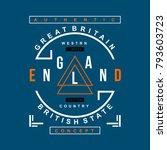 england vintage typography t... | Shutterstock .eps vector #793603723