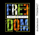 freedom vintage typography t... | Shutterstock .eps vector #793606417