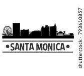 santa monica california usa usa ...   Shutterstock .eps vector #793610857