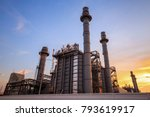 power plant and petrochemical... | Shutterstock . vector #793619917
