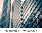 modern office building close up ... | Shutterstock . vector #793626277