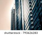 modern office building close up ... | Shutterstock . vector #793626283
