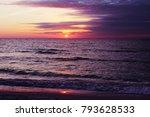 beautiful sunset at beach of... | Shutterstock . vector #793628533