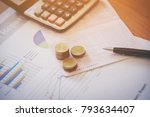 bank saving deposit account and ...   Shutterstock . vector #793634407