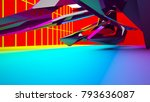 abstract white and colored... | Shutterstock . vector #793636087